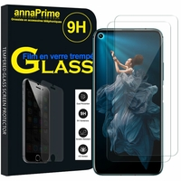 "Huawei Honor 20/ Huawei nova 5T 6.26"" YAL-L21 YAL-AL00 YAL-TL00 (non compatible Huawei Honor 20 Lite 6.21""/ Honor 20i 6.21""/ Honor View 20 6.4""): Lot / Pack de 2 Films de protection d'écran Verre Trempé"