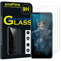 """Huawei Honor 20 Pro 6.26"""" YAL-AL10 YAL-TL10 (non compatible Huawei Honor 20 Lite 6.21""""/ Honor View 20 6.4""""): Lot / Pack de 3 Films de protection d'écran Verre Trempé"""