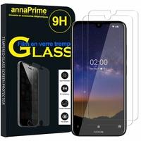 """Nokia 2.2 (2019) 5.71"""" TA-1183 (non compatible Nokia 2 (2017) 5.0"""") [Les Dimensions EXACTES du telephone: 146 x 70.6 x 9.3 mm]: Lot / Pack de 2 Films de protection d'écran Verre Trempé"""