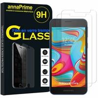 """Samsung Galaxy A2 Core 5.0"""" SM-A260F A260G A260F/DS A260G/DS (non compatible Galaxy A20 6.4""""/ A20E 5.8""""): Lot / Pack de 2 Films de protection d'écran Verre Trempé"""