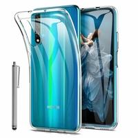 """Huawei Honor 20/ Huawei nova 5T 6.26"""" YAL-L21 YAL-AL00 YAL-TL00 (non compatible Huawei Honor 20 Lite 6.21""""/ Honor 20i 6.21""""/ Honor View 20 6.4""""): Accessoire Housse Etui Coque gel UltraSlim et Ajustement parfait + Stylet - TRANSPARENT"""