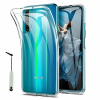 """Huawei Honor 20 Pro 6.26"""" YAL-AL10 YAL-TL10 (non compatible Huawei Honor 20 Lite 6.21""""/ Honor View 20 6.4""""): Accessoire Housse Etui Coque gel UltraSlim et Ajustement parfait + mini Stylet - TRANSPARENT"""