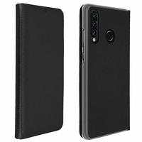 """Huawei P30 Lite 6.15"""" MAR-LX1M/ MAR-AL00/ MAR-TL00 (non compatible Huawei P30/ P30 Pro): Étui Coque Folio à rabat horizontal avec fonction réveil/sommeil - NOIR"""