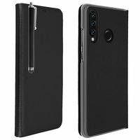 """Huawei P30 Lite 6.15"""" MAR-LX1M/ MAR-AL00/ MAR-TL00 (non compatible Huawei P30/ P30 Pro): Étui Coque Folio à rabat horizontal avec fonction réveil/sommeil + Stylet - NOIR"""