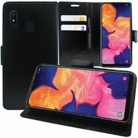 """Samsung Galaxy A10E 5.83"""" SM-A102U (non compatible Galaxy A10 6.2""""): Accessoire Etui portefeuille Livre Housse Coque Pochette support vidéo cuir PU - NOIR"""