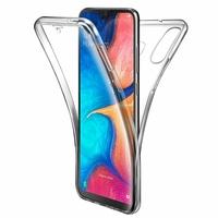 """Samsung Galaxy A20E/ A20e Dual SIM 5.8"""" SM-A202F/ SM-A202F/DS (non compatible Galaxy A20 6.4""""): Coque Housse Silicone Gel TRANSPARENTE ultra mince 360° protection intégrale Avant et Arrière - TRANSPARENT"""