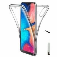 """Samsung Galaxy A20E/ A20e Dual SIM 5.8"""" SM-A202F/ SM-A202F/DS (non compatible Galaxy A20 6.4""""): Coque Housse Silicone Gel TRANSPARENTE ultra mince 360° protection intégrale Avant et Arrière + mini Stylet - TRANSPARENT"""