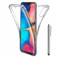 """Samsung Galaxy A20E/ A20e Dual SIM 5.8"""" SM-A202F/ SM-A202F/DS (non compatible Galaxy A20 6.4""""): Coque Housse Silicone Gel TRANSPARENTE ultra mince 360° protection intégrale Avant et Arrière + Stylet - TRANSPARENT"""