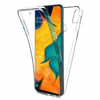 """Samsung Galaxy A30 SM-A305F 6.4"""" [Les Dimensions EXACTES du telephone: 158.5 x 74.5 x 7.7 mm]: Coque Housse Silicone Gel TRANSPARENTE ultra mince 360° protection intégrale Avant et Arrière - TRANSPARENT"""