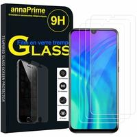 "Huawei Honor 20i 6.21"" HRY-TL00T AL00TA (non compatible Huawei Honor 20 6.26""/ Honor View 20 6.4""): Lot / Pack de 3 Films de protection d'écran Verre Trempé"