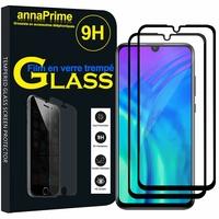 "Huawei Honor 20i 6.21"" HRY-TL00T AL00TA (non compatible Huawei Honor 20 6.26""/ Honor View 20 6.4""): Lot / Pack de 2 Films de protection d'écran Verre Trempé"
