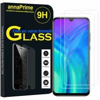 """Huawei Honor 20 Lite/ Honor 10i 6.21"""" HRY-LX1T (non compatible Huawei Honor 20 6.26""""/ Honor View 20 6.4""""): Lot / Pack de 2 Films de protection d'écran Verre Trempé"""