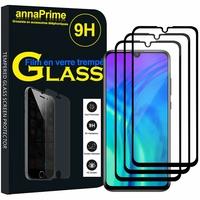 """Huawei Honor 20 Lite/ Honor 10i 6.21"""" HRY-LX1T (non compatible Huawei Honor 20 6.26""""/ Honor View 20 6.4""""): Lot / Pack de 3 Films de protection d'écran Verre Trempé"""