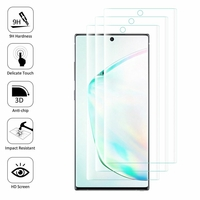 "Samsung Galaxy Note10/ Note 10 5G 6.3"" SM-N970F N970U N970U1 N9700 N970W N9700 N970N N971U N971N: Lot/ Pack de 3 Films en Verre Trempé Bord Incurvé Resistant"