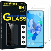 """Huawei Nova 5i 6.4""""GLK-LX1 LX1U LX2 LX3 AL00 TL00 (non compatible Huawei nova 5 6.39""""/ Nova 5i Pro 6.26""""): Lot / Pack de 3 Films de protection d'écran Verre Trempé"""