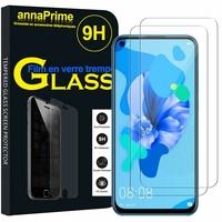 """Huawei P20 Lite (2019) 6.4"""" (non compatible Huawei P20 lite 2018 5.84"""") [Les Dimensions EXACTES du telephone: 159.1 x 75.9 x 8.3 mm]: Lot / Pack de 2 Films de protection d'écran Verre Trempé"""