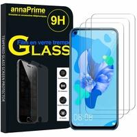 """Huawei P20 Lite (2019) 6.4"""" (non compatible Huawei P20 lite 2018 5.84"""") [Les Dimensions EXACTES du telephone: 159.1 x 75.9 x 8.3 mm]: Lot / Pack de 3 Films de protection d'écran Verre Trempé"""
