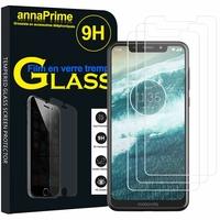 "Motorola One (P30 Play) 5.9"" [Les Dimensions EXACTES du telephone: 149.9 x 72.2 x 8 mm]: Lot / Pack de 3 Films de protection d'écran Verre Trempé"