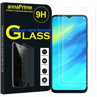 """Realme 2 Pro 6.3"""" RMX1801 RMX1807 [Les Dimensions EXACTES du telephone: 156.7 x 74 x 8.5 mm]: Lot / Pack de 2 Films de protection d'écran Verre Trempé"""