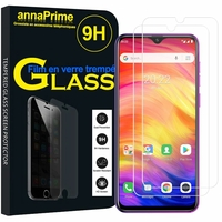 "Ulefone Note 7P 6.1"" [Les Dimensions EXACTES du telephone: 156.1 x 73.7 x 9.7 mm]: Lot / Pack de 2 Films de protection d'écran Verre Trempé"