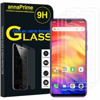 "Ulefone Note 7P 6.1"" [Les Dimensions EXACTES du telephone: 156.1 x 73.7 x 9.7 mm]: Lot / Pack de 3 Films de protection d'écran Verre Trempé"