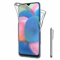 """Samsung Galaxy A30S 6.4"""" SM-A307F A307FN A307G A307GN A307GT A307YN [Les Dimensions EXACTES du telephone: 158.5 x 74.7 x 7.8 mm]: Coque Housse Silicone Gel TRANSPARENTE ultra mince 360° protection intégrale Avant et Arrière + Stylet - TRANSPARENT"""