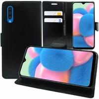 """Samsung Galaxy A30S 6.4"""" SM-A307F A307FN A307G A307GN A307GT A307YN [Les Dimensions EXACTES du telephone: 158.5 x 74.7 x 7.8 mm]: Accessoire Etui portefeuille Livre Housse Coque Pochette support vidéo cuir PU - NOIR"""