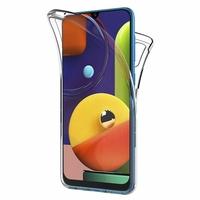 """Samsung Galaxy A50S 6.4"""" SM-A507FN A507FN/DS [Les Dimensions EXACTES du telephone: 158.5 x 74.5 x 7.7 mm]: Coque Housse Silicone Gel TRANSPARENTE ultra mince 360° protection intégrale Avant et Arrière - TRANSPARENT"""