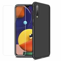 """Samsung Galaxy A50S 6.4"""" SM-A507FN A507FN/DS [Les Dimensions EXACTES du telephone: 158.5 x 74.5 x 7.7 mm]: Coque de protection intégrale 360° Avant Et Arrière Ultra Mince Ultra Léger avec Verre Trempé pour l'Ecran - NOIR"""