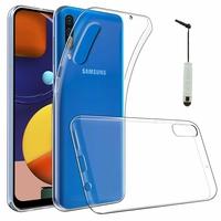 """Samsung Galaxy A50S 6.4"""" SM-A507FN A507FN/DS [Les Dimensions EXACTES du telephone: 158.5 x 74.5 x 7.7 mm]: Accessoire Housse Etui Coque gel UltraSlim et Ajustement parfait + mini Stylet - TRANSPARENT"""