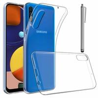 """Samsung Galaxy A50S 6.4"""" SM-A507FN A507FN/DS [Les Dimensions EXACTES du telephone: 158.5 x 74.5 x 7.7 mm]: Accessoire Housse Etui Coque gel UltraSlim et Ajustement parfait + Stylet - TRANSPARENT"""