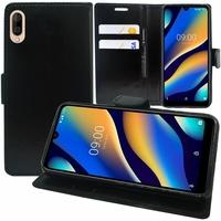 """Motorola Moto G7 Power 6.2"""" XT1955 (non compatible Moto G7/ G7 Plus/ G7 Play): Accessoire Etui portefeuille Livre Housse Coque Pochette support vidéo cuir PU - NOIR"""