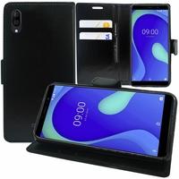 """Wiko Y80 5.99"""" [Les Dimensions EXACTES du telephone: 160 x 76.5 x 8.55 mm]: Accessoire Etui portefeuille Livre Housse Coque Pochette support vidéo cuir PU - NOIR"""