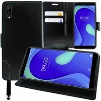 """Wiko Y80 5.99"""" [Les Dimensions EXACTES du telephone: 160 x 76.5 x 8.55 mm]: Accessoire Etui portefeuille Livre Housse Coque Pochette support vidéo cuir PU + mini Stylet - NOIR"""