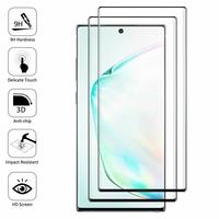 "Samsung Galaxy Note10+ Plus/ Note 10 Pro/ Note10+ 5G 6.8"" SM-N975F N976F N975U N9750 N975U1 N975W N975N N976U N976: Lot/ Pack de 2 Films en Verre Trempé Bord Incurvé Resistant"