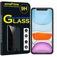 """Apple iPhone 11 6.1"""" A2221 A2111 A2223 (non compatible iPhone 11 Pro 5.8""""/ iPhone 11 Pro Max 6.5""""): 1 Film de protection d'écran Verre Trempé"""