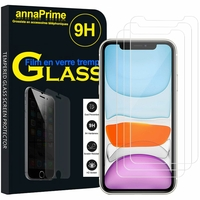 """Apple iPhone 11 6.1"""" A2221 A2111 A2223 (non compatible iPhone 11 Pro 5.8""""/ iPhone 11 Pro Max 6.5""""): Lot / Pack de 3 Films de protection d'écran Verre Trempé"""