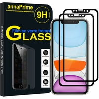"""Apple iPhone 11 6.1"""" A2221 A2111 A2223 (non compatible iPhone 11 Pro 5.8""""/ iPhone 11 Pro Max 6.5""""): Lot / Pack de 2 Films de protection d'écran Verre Trempé"""