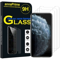 """Apple iPhone 11 Pro 5.8"""" A2215 A2160 A2217 (non compatible iPhone 11 6.1""""/ iPhone 11 Pro Max 6.5""""): Lot / Pack de 3 Films de protection d'écran Verre Trempé"""
