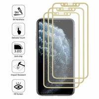 """Apple iPhone 11 Pro 5.8"""" A2215 A2160 A2217 (non compatible iPhone 11 6.1""""/ iPhone 11 Pro Max 6.5""""): Lot/ Pack de 3 Films en Verre Trempé Bord Incurvé Resistant"""