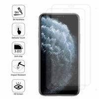 """Apple iPhone 11 Pro 5.8"""" A2215 A2160 A2217 (non compatible iPhone 11 6.1""""/ iPhone 11 Pro Max 6.5""""): Lot/ Pack de 2 Films en Verre Trempé Bord Incurvé Resistant"""