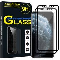 """Apple iPhone 11 Pro 5.8"""" A2215 A2160 A2217 (non compatible iPhone 11 6.1""""/ iPhone 11 Pro Max 6.5""""): Lot / Pack de 2 Films de protection d'écran Verre Trempé"""