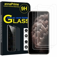 """Apple iPhone 11 Pro Max 6.5"""" A2218 A2161 A2220 (non compatible iPhone 11 6.1""""/ iPhone 11 Pro 5.8""""): Lot / Pack de 3 Films de protection d'écran Verre Trempé"""