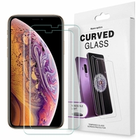 """Apple iPhone XS Max (2018) 6.5"""" A1921 A2104 (non compatible iPhone XS 5.8""""): Lot/ Pack 2 Films de Protection d'écran en Verre trempé Nano incurve?e 3D avec Liquide et Lampe UV"""