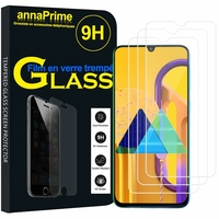 "Samsung Galaxy M30S 6.4"" SM-M307F/DS M307FN/DS (non compatible Galaxy M30): Lot / Pack de 3 Films de protection d'écran Verre Trempé"