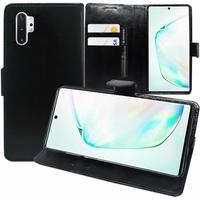 "Samsung Galaxy Note10+ Plus/ Note 10 Pro/ Note10+ 5G 6.8"" SM-N975F N976F N975U N9750 N975U1 N975W N975N N976U N976: Accessoire Etui portefeuille Livre Housse Coque Pochette support vidéo cuir PU - NOIR"
