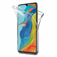"""Huawei P30 Lite 6.15"""" MAR-LX1M/ MAR-AL00/ MAR-TL00 (non compatible Huawei P30/ P30 Pro): Coque Housse Silicone Gel TRANSPARENTE ultra mince 360° protection intégrale Avant et Arrière - TRANSPARENT"""