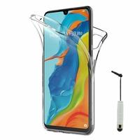 """Huawei P30 Lite 6.15"""" MAR-LX1M/ MAR-AL00/ MAR-TL00 (non compatible Huawei P30/ P30 Pro): Coque Housse Silicone Gel TRANSPARENTE ultra mince 360° protection intégrale Avant et Arrière + mini Stylet - TRANSPARENT"""