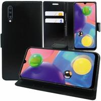 """Samsung Galaxy A70S 6.7"""" SM-A707F A707FN A707GM A707MN A7070 A707W: Accessoire Etui portefeuille Livre Housse Coque Pochette support vidéo cuir PU - NOIR"""