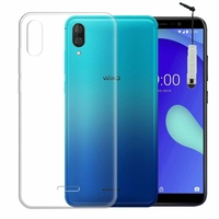 """Wiko Y80 5.99"""" [Les Dimensions EXACTES du telephone: 160 x 76.5 x 8.55 mm]: Accessoire Housse Etui Coque gel UltraSlim et Ajustement parfait + mini Stylet - TRANSPARENT"""